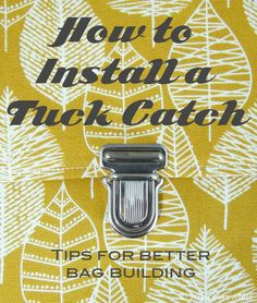 How to Install a Tuck Catch: Tips for Better Bag Building #2 - Betz White #sewing