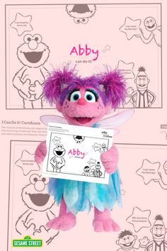 """Abby Cadabby loves the encouraging """"I Can Do It!"""" certificate and so can your preschooler!  Parents & teachers, award your children with this free Sesame Street certificate printable. Download & more at: http://www.sesamestreet.org/challenges #preschoolactivities"""