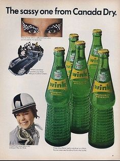 1967 Canada Dry Wink The Sassy One Racing Ad