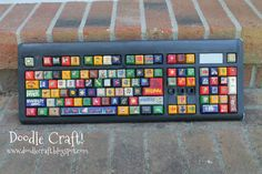 Doodle Craft...: Upcycled Painted Keyboard