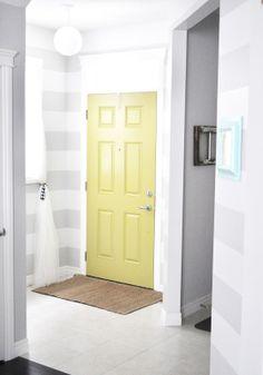 painted front door - love the pop of color!
