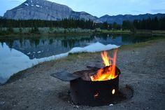 Banff, AB  Campfire on the lake ♥