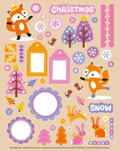 FREE Printable Holiday Scrapbooking elements http://dl.dropbox.com/u/8540479/Bee_Scrapbookpage_English.pdf