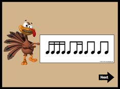 Thanksgiving Flashcards from Smart Rhythms For Fall by Linda Miller