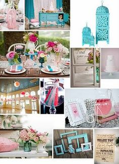Teal and pink!