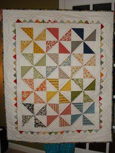Pinwheel Baby Quilt - charm pack