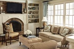 white mantle on old fireplace