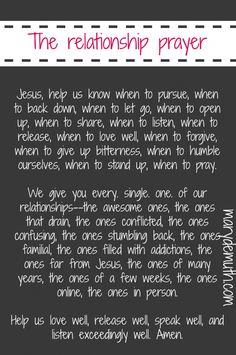 A #Prayer for your #Relationships. Even the hard ones.
