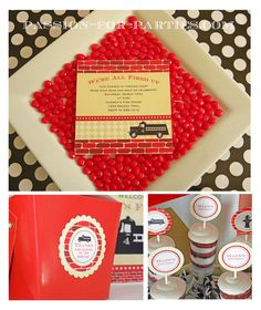 Vintage Fire Truck Printable Party Collection. $38.00, via Etsy.