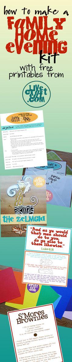 family home evening kits, fhe kits, church, fhe ideas, famili