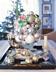 This is so pretty. I love vintage ornaments
