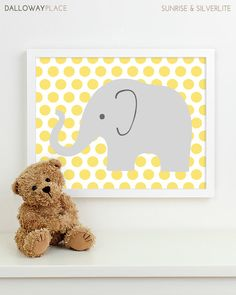 Baby Nursery Art, Safari Animal Nursery Print, Jungle Elephant Children Kids Wall Art Kids Room Playroom Baby Nursery Decor - One 8x10. $17.00, via Etsy.