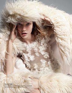 Karlie Kloss & Karmen Pedaru by Daniel Jackson for Vogue UK August 2010