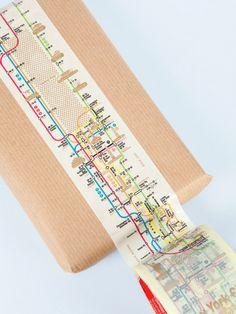 Subway-map washi tape!