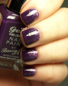 The Nailasaurus: Snippet: Purple Glitter Gradient (This girl is a genius.)