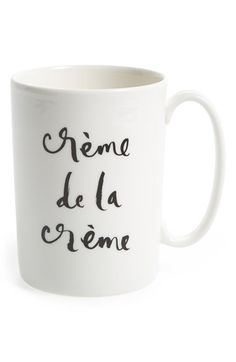kate spade new york 'creme de la creme' porcelain mug $20 #home #Kitchen #homegoods