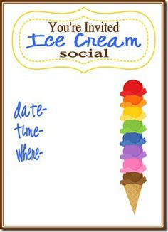 Ice Cream Social Invite - 3