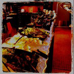 Salad bar at 4Sisters wine bar and tapas restaurant