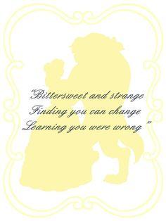 Beast Belle quote card @H Kaitoula Tou Rodolfou Maslarova