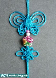 Chinese knot tutorial - butterfly ornaments (2) -