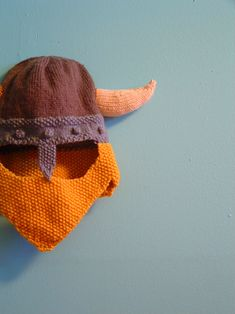 knitted viking helm and beard