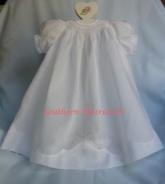 Southern Matriarch: Madeira Hem Wee Care gown