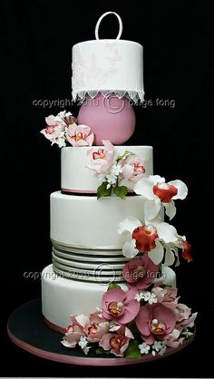 Orchids Wedding Cake