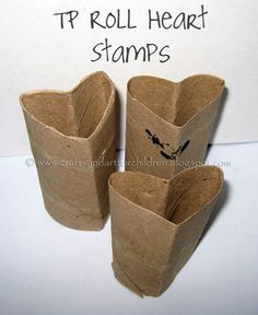 Crafts~N~Things for Children: Kids Valentine's Cards- made with a homemade heart stamp