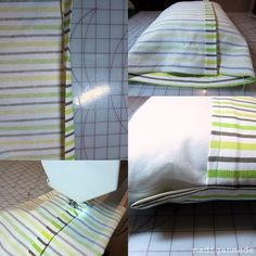 This took me about 30 minutes to make.  How to Sew a Simple Envelope Pillow ~ Madigan Made { simple DIY ideas }