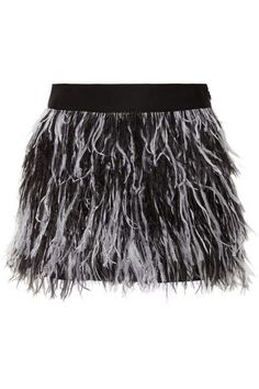 Feather trimmed skirt