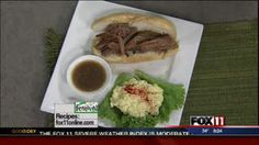 French Dips #recipe from WLUK FOX 11 Good Day Wisconsin Cooking with Amy Hanten. #recipes #video