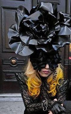 Lady Gaga in Philip Treacy #millinery #judithm #hats