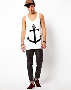 Abandon Ship Vest with Seeing Eye Print by Asos