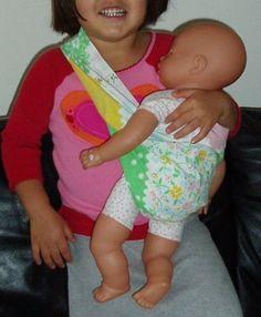sling tutori, sewing baby tutorials, doll sling, stuff, koalas, babi doll, babi sling, baby dolls, baby slings