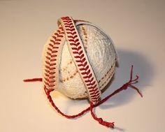 DIY bracelets out of baseballs.