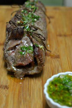 Chimichurri Stuffed Flank Steak - Supper for a Steal