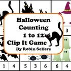 Great Halloween math center to use with number recognition and counting with a fine motor skills connection---