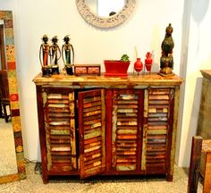 Sideboard made from old shutters