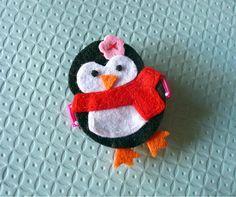 Penguin Girl Felt Hair Clip Baby Hair Clip by extrafrostingplease, $4.00