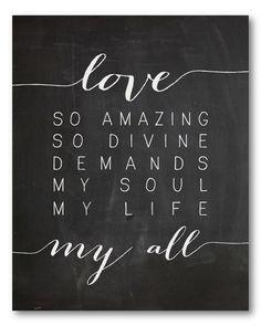 Love so amazing - canvas