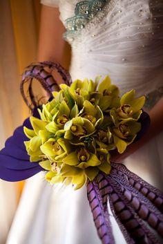 Bouquet de novia de cimbidiums