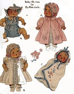 Vintage Doll Clothes PATTERN 632 for 11 in Dy Dee Little Girl Doll by Effanbee