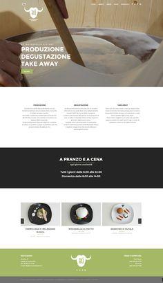 #Webdesign for Bù #Mozzarella #Bistrot #design #adv#layout #website #graphicdesign