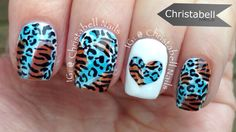 ChristabellNails Animal Print Heart Nail Art Tutorial