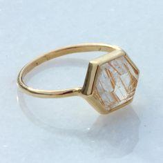 quartz tuhla, rutil quartz, tuhla ring