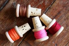 Thread spool corks.