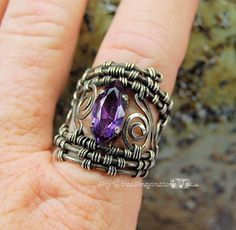 Jewelry: Super Wide Woven Filigree Ring by BobbiWired