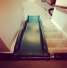 Dear future me: you better be the coolest parent out there and put a slide on the stairs.