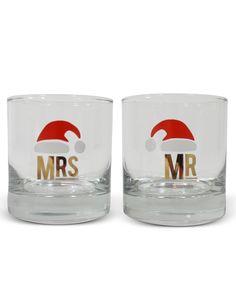 Mr. & Mrs. Holiday Santa Glasses