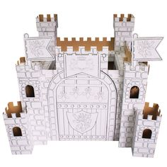 Colour Your Own Cardboard Castle